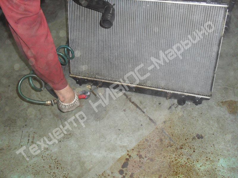 Промывка радиатора охлаждения двигателя своими руками 96
